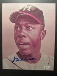 Hank Aaron Signed 8x10 Photo - JSA Cert -