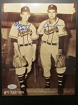 Warren Spahn and Johnny Sain Signed 8 x10 Photo - JSA Certified -