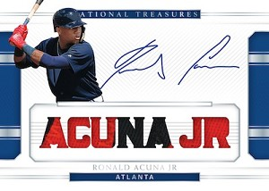 Example card: Ronald Acuna Jr. hard signed Signature Names Prime.